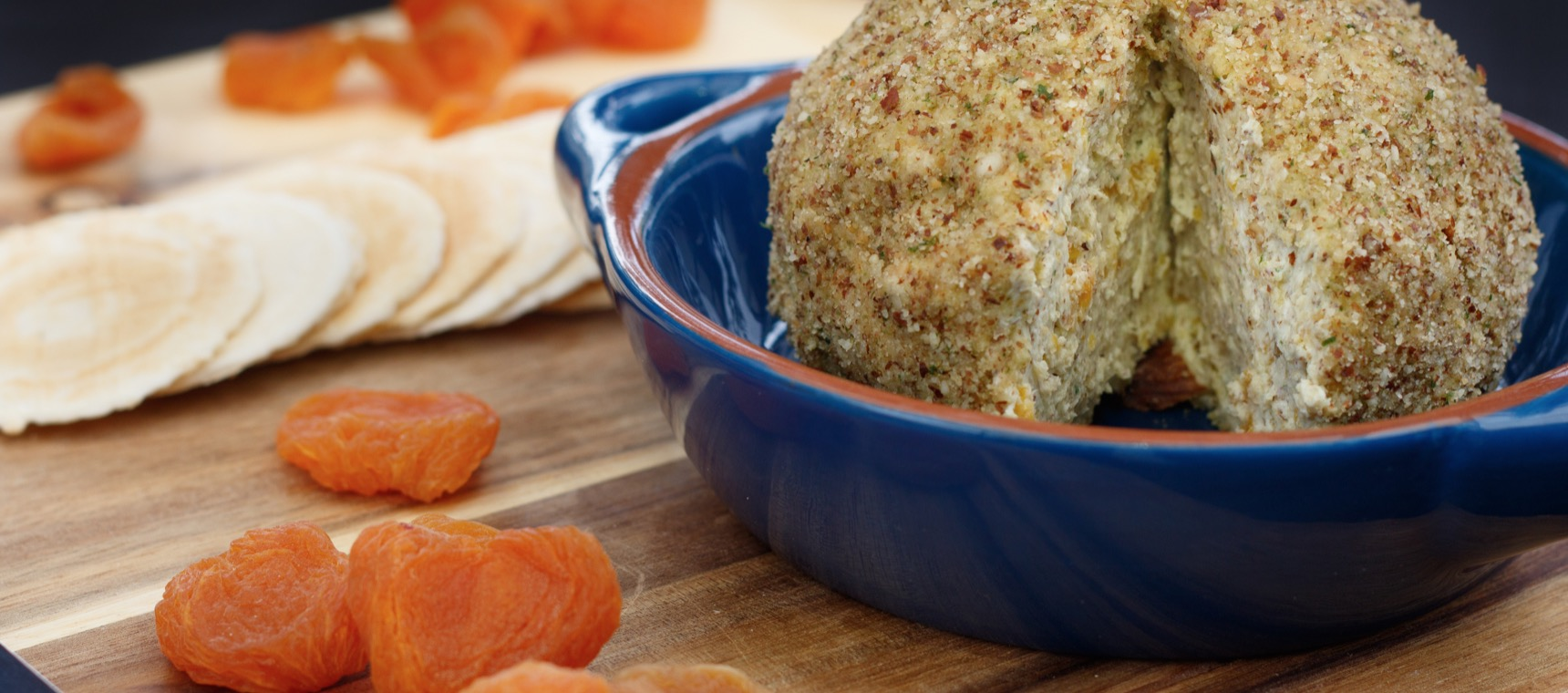 Apricot and Almond Cheese Ball