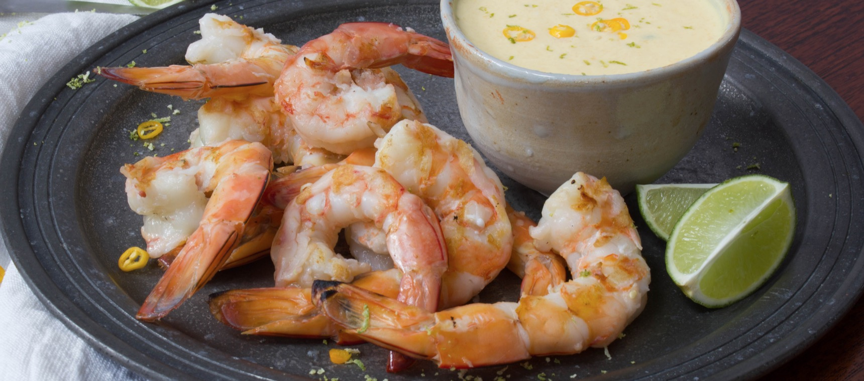 BBQ Prawns with Mango Dipping Sauce