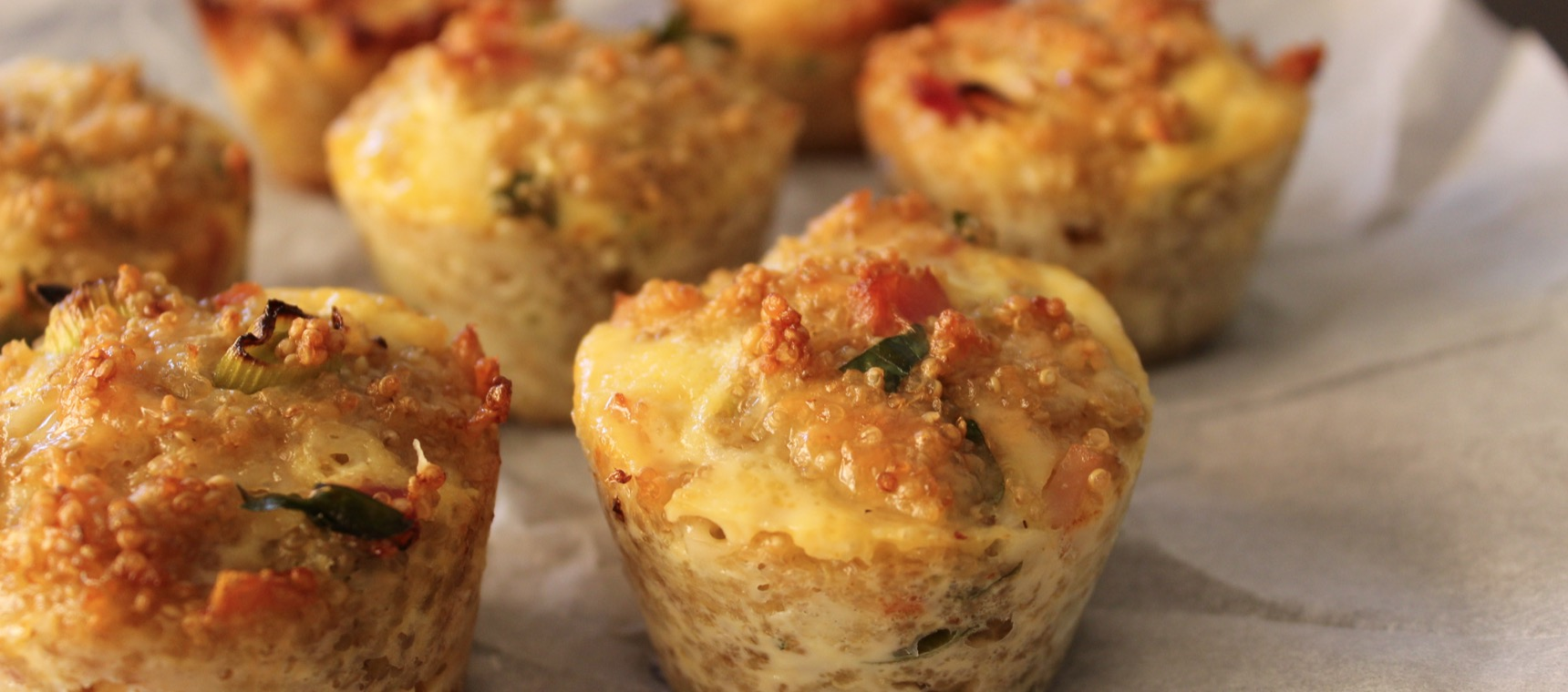 Bacon and Egg Quinoa Bites