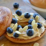 Bagels with Honeyed Mascarpone and Blueberries