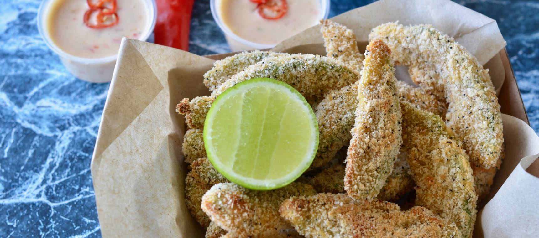 Baked Avocado Fries and Sweet Chilli Dip