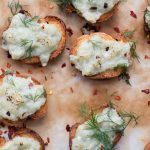 Blue Cheese and Pear Crostini