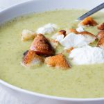 Broccoli Soup with Croutons
