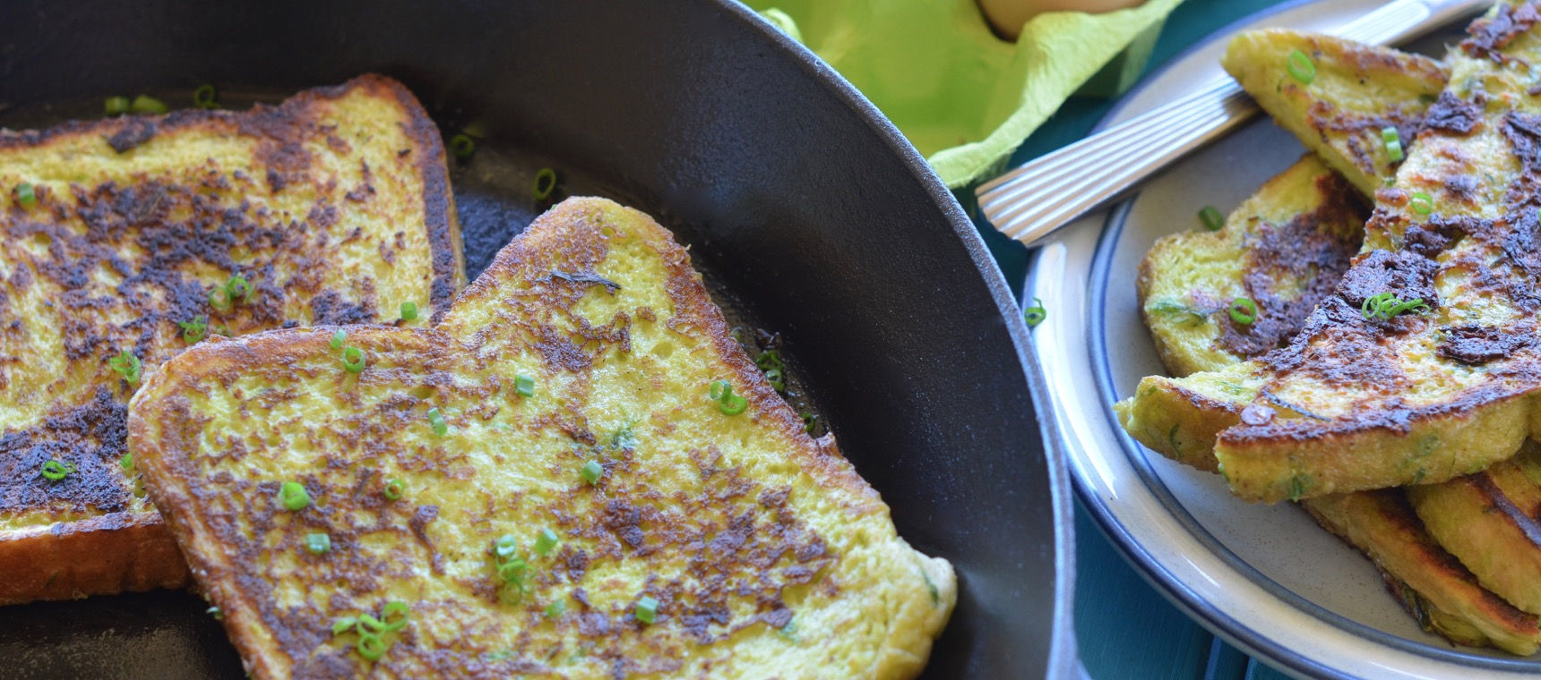 Cheese and Chive French Toast