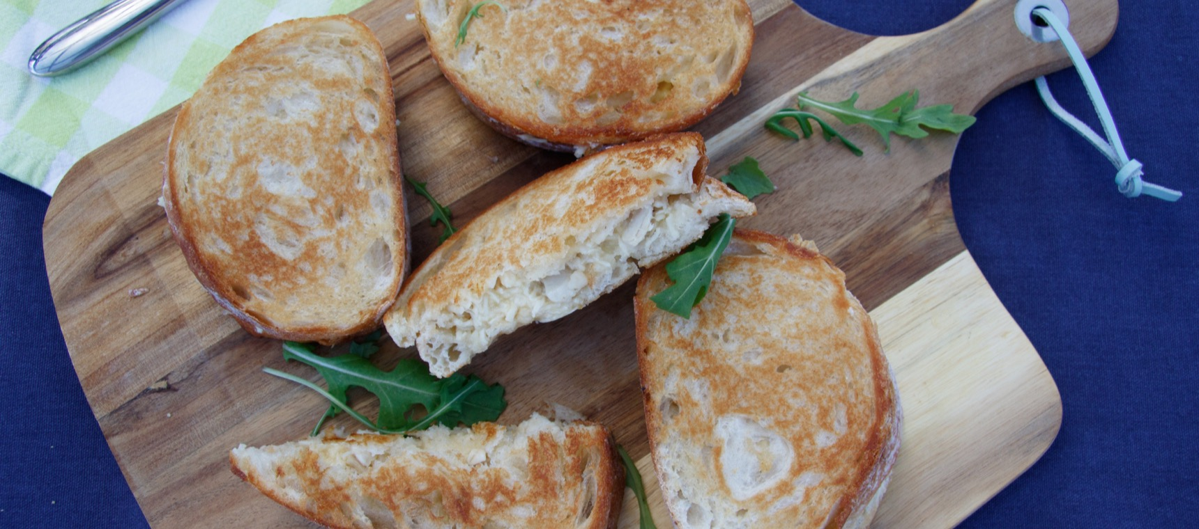Chicken, Cheese and Mayonnaise Toasted  Sandwiches
