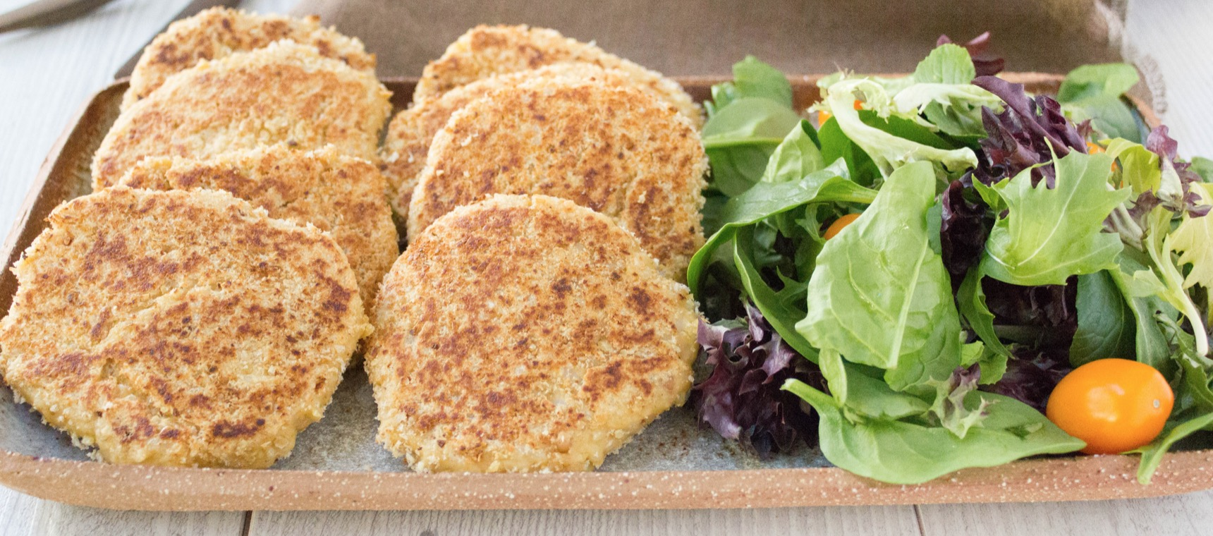 Chickpea and Peanut Butter Patties