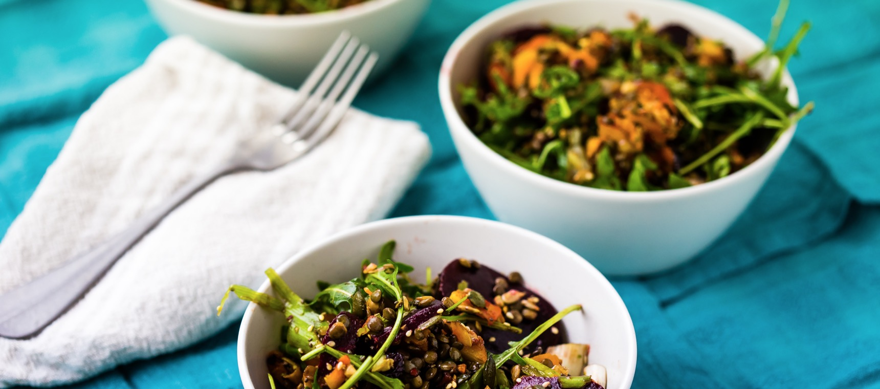 Colourful Squash & Lentil Salad