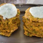 Coriander and Carrot Fritters with Coriander Dipping Sauce