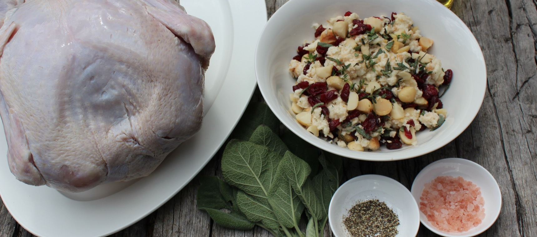 Cranberry Macadamia Stuffed Turkey