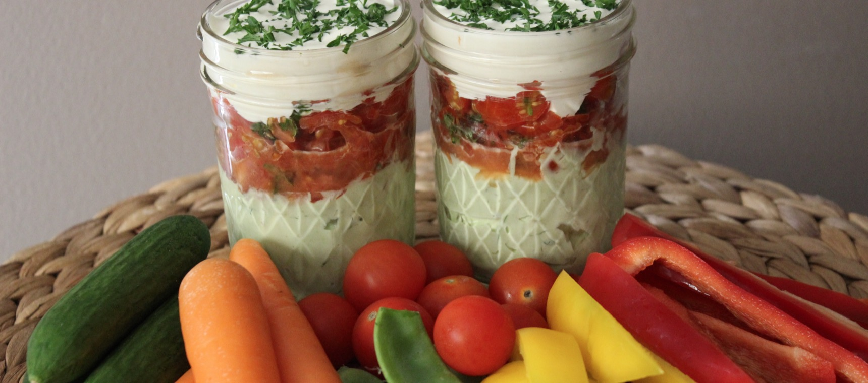 Festive Layered Dip with Veggies