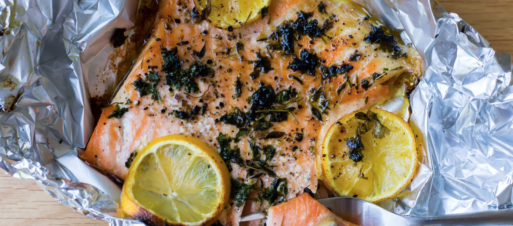 Fire Roasted Salmon with Herbs and Lemon