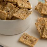 Grain Free Cumin Chickpea Crackers