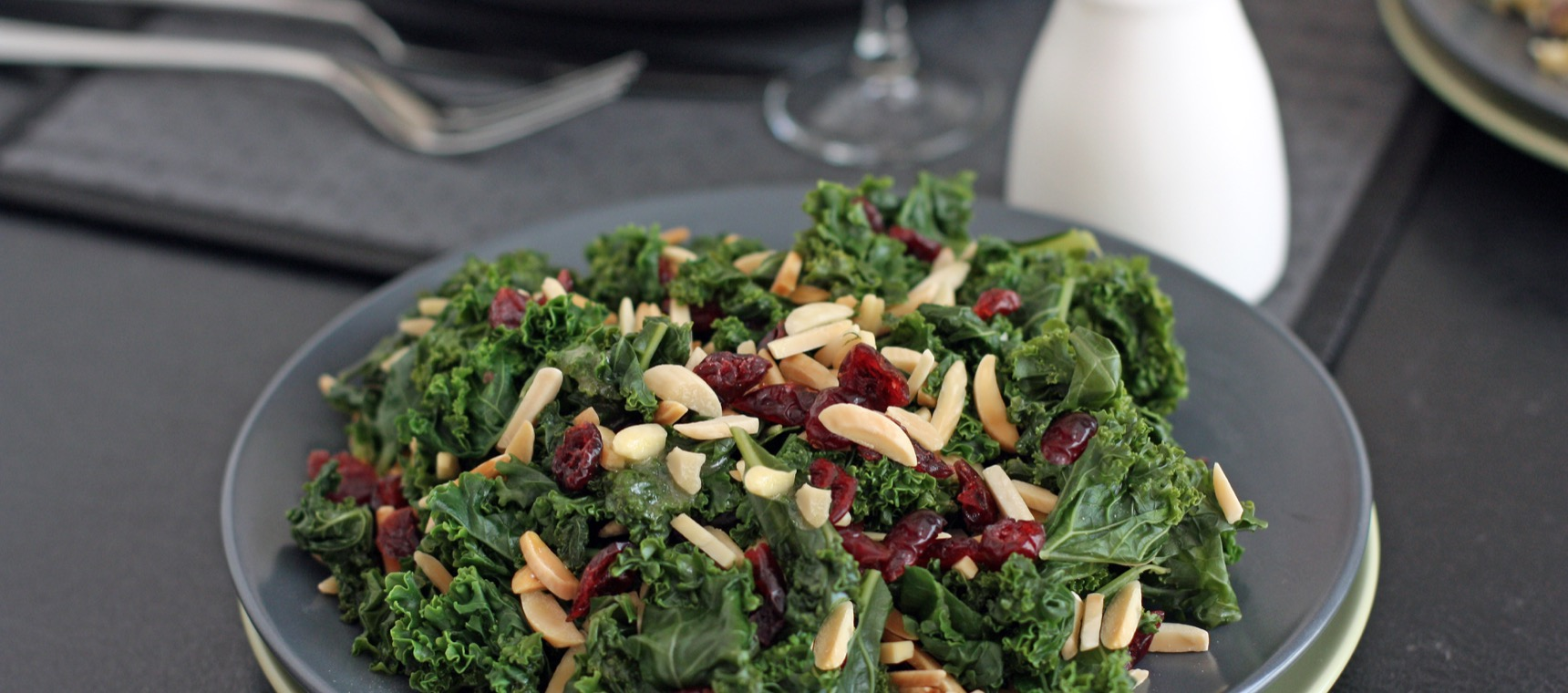 Kale, Cranberry and Almond Salad