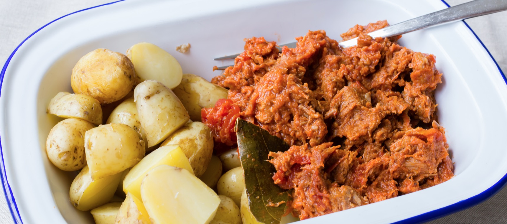 Lamb Goulash with Steamed Potatoes