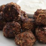Lamb & Mint Meatballs with Yoghurt Dipping Sauce