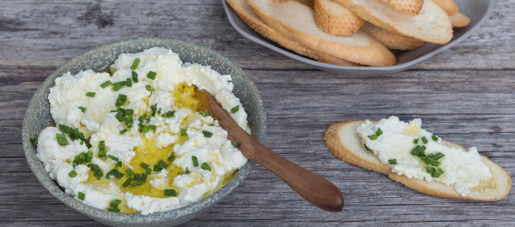 Lemon and Feta Spread with Crostini
