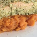 Lemongrass Salmon on Sweet Potato Mash