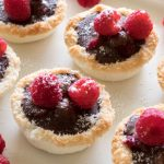 Mini Chocolate and Raspberry Macaroon Tarts