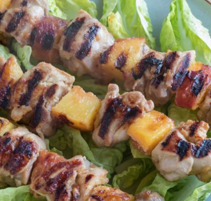 Nectarine and Chicken Kebabs