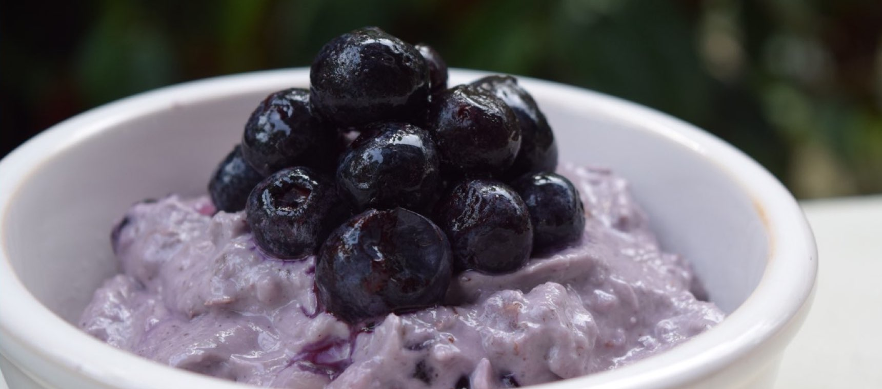 Nutty Almond Porridge with Blueberries