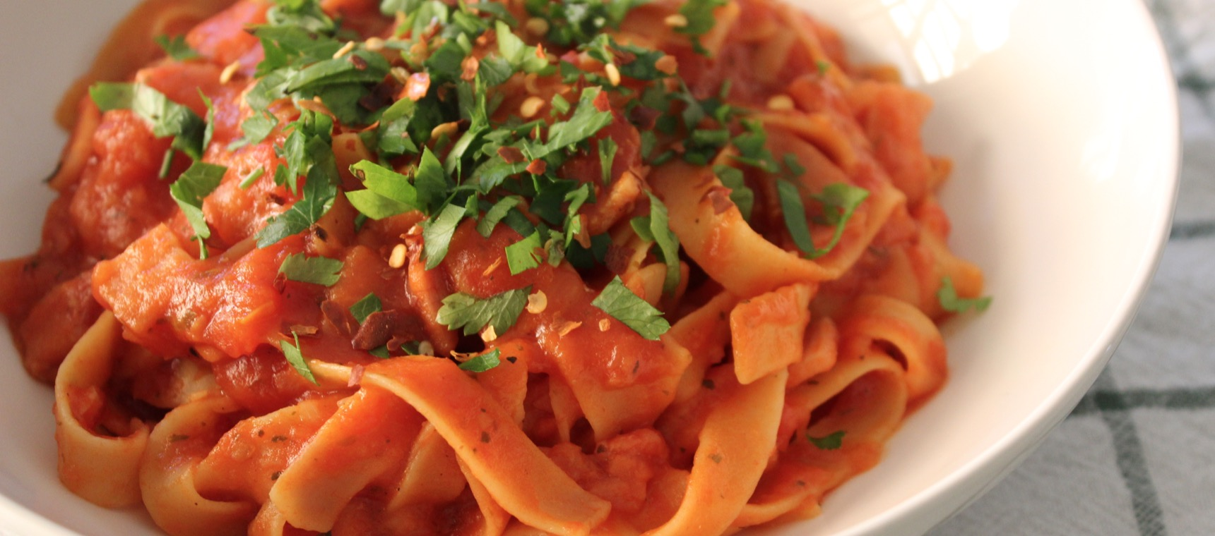 One Bowl Amatriciana Pasta