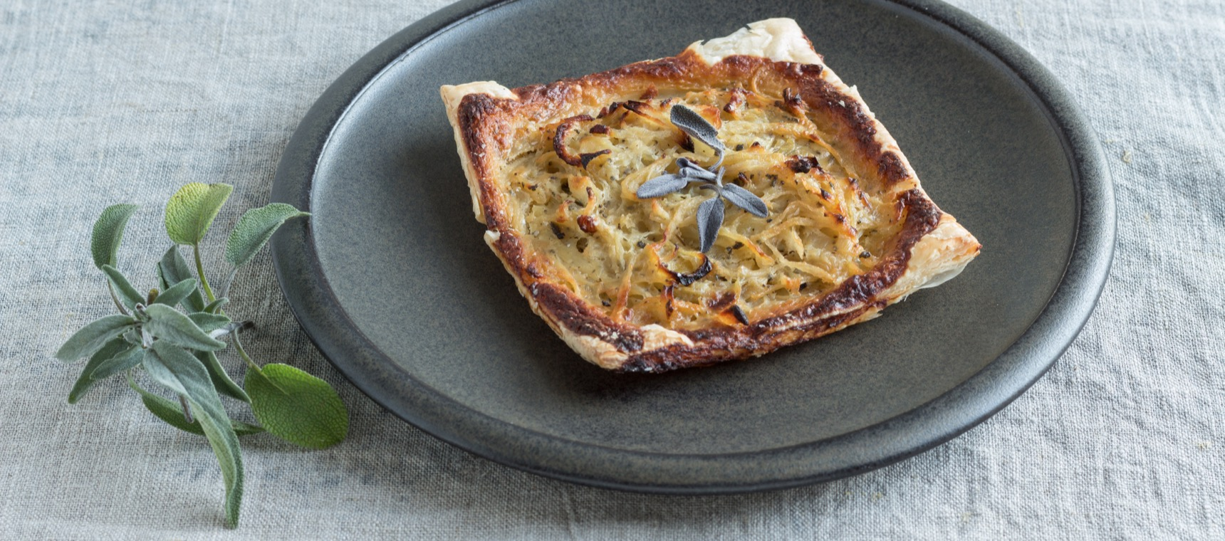 Onion, Cheddar and Sage Tarts