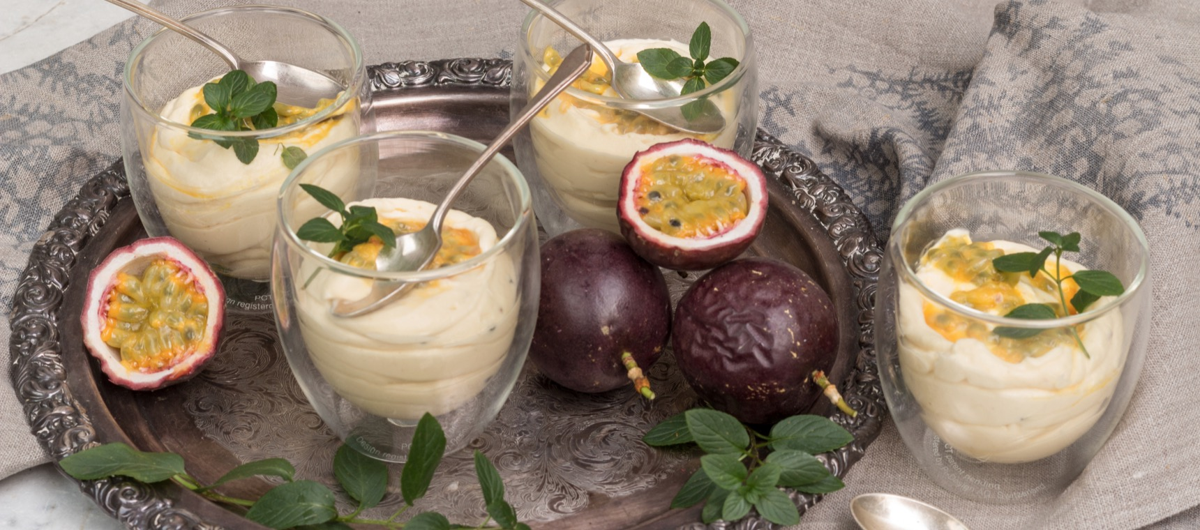 Passionfruit Cheesecake Pots
