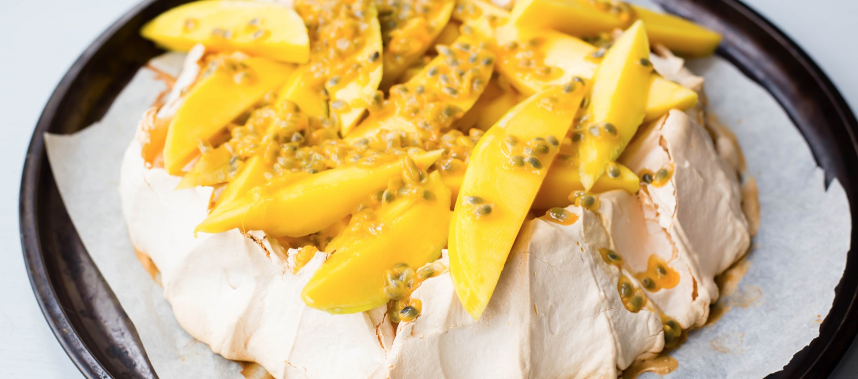 Pavlova with Mango and Passionfruit