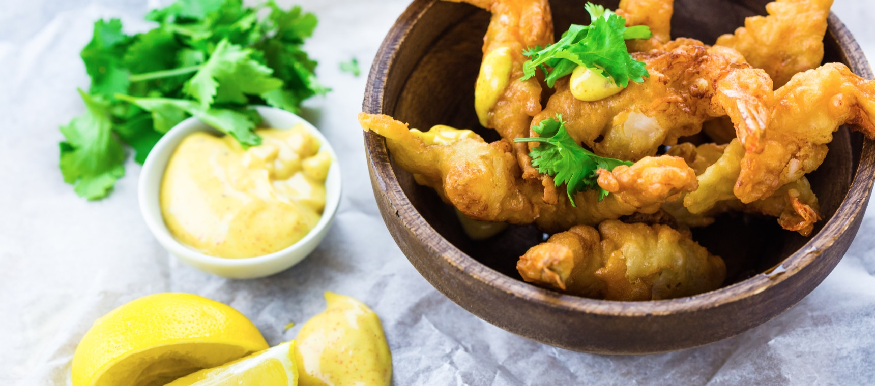 Prawn Fritters with Spicy Mayonnaise