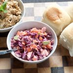 Pulled Pork and Colourful Coleslaw Sliders