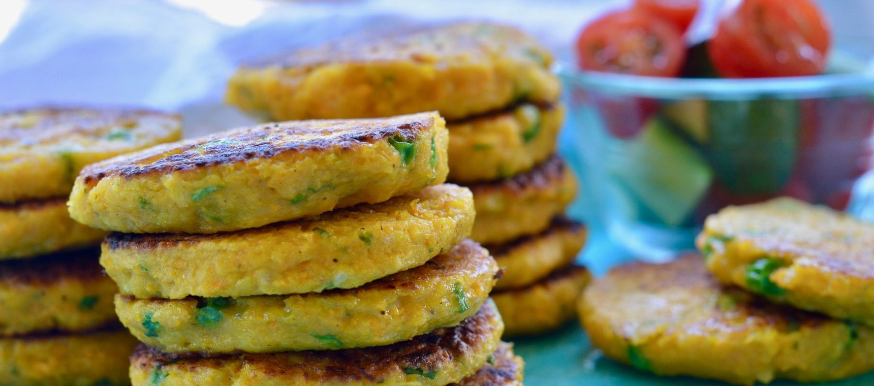 Pumpkin and Pea Fritters