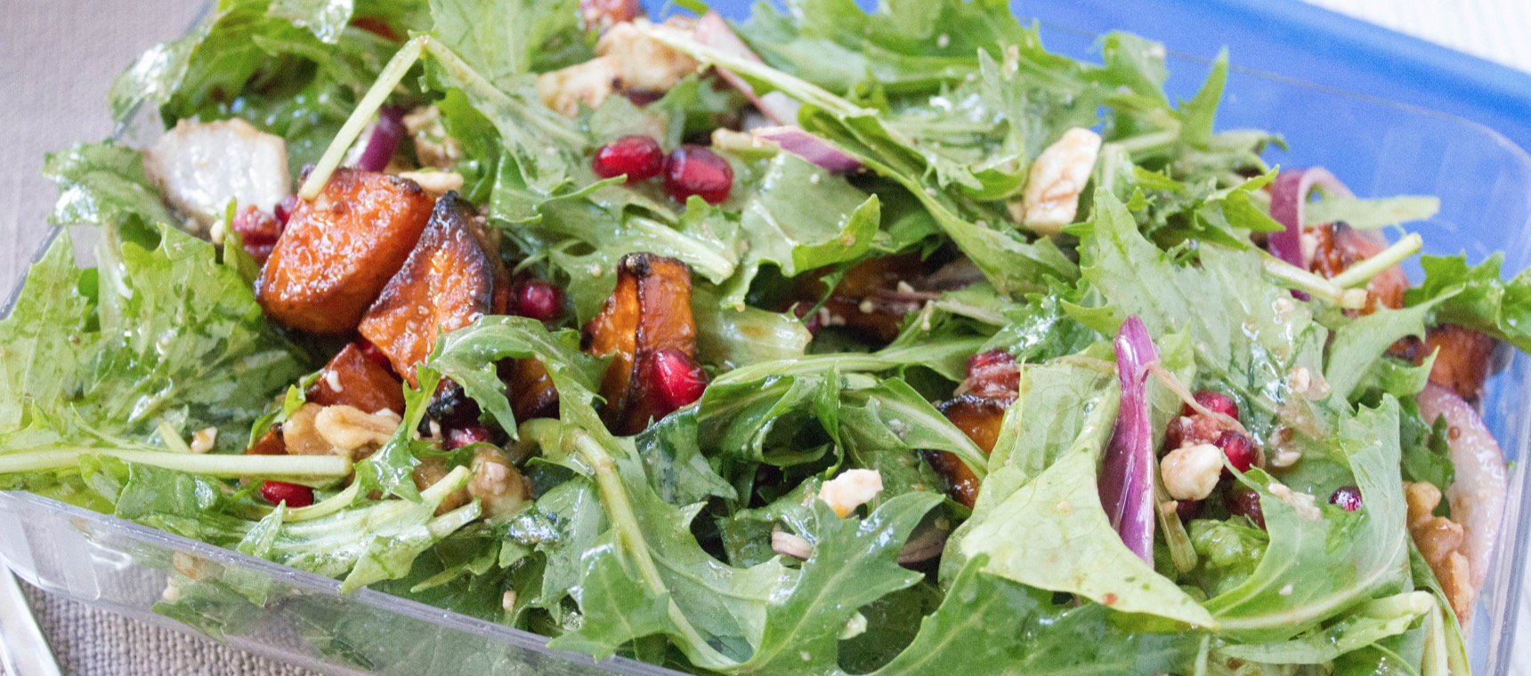 Roast Sweet Potato, Rocket and Pomegranate Salad