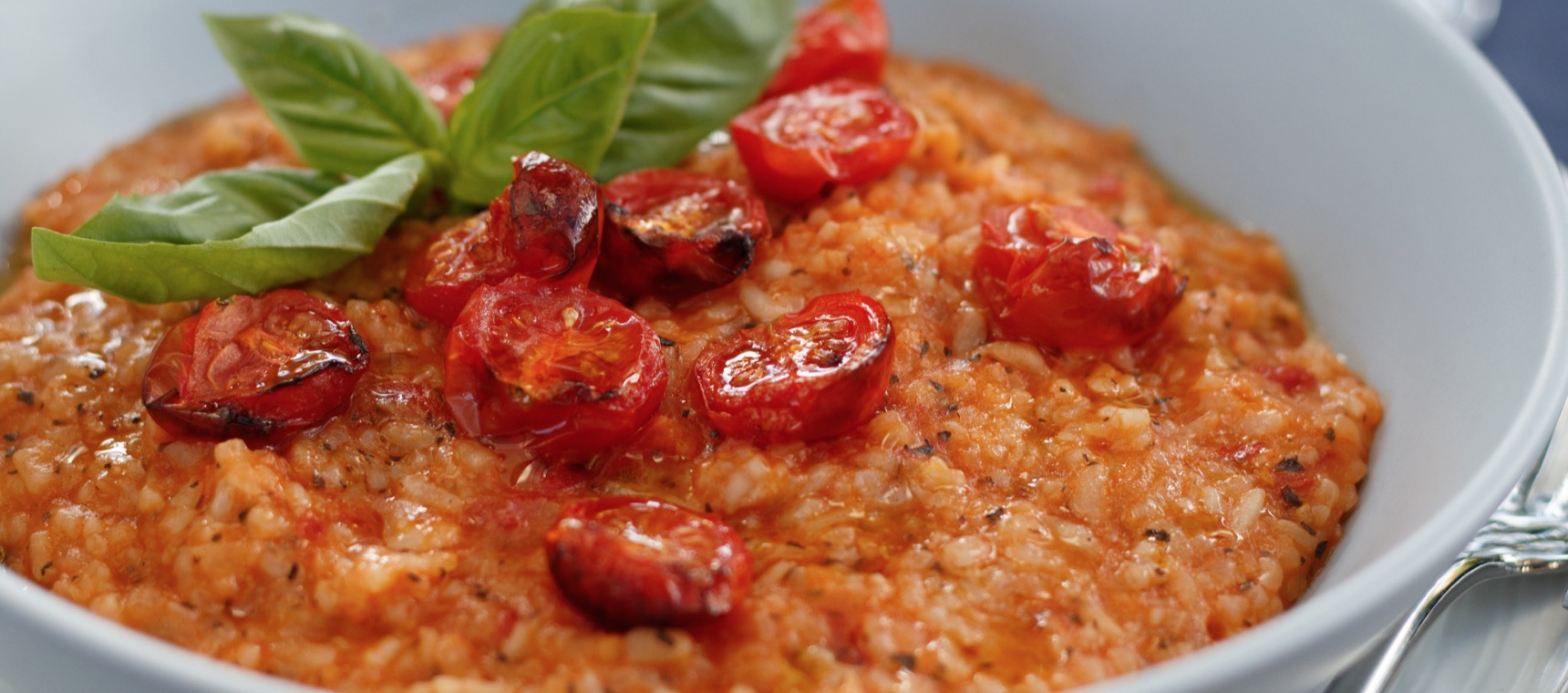 Roasted Tomato and Basil Risotto