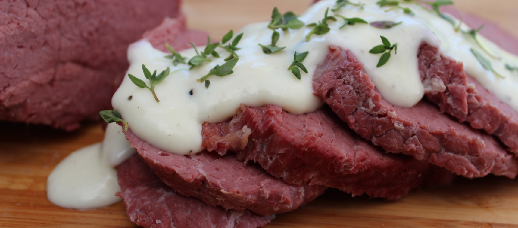 Silverside with Onion Thyme Sauce