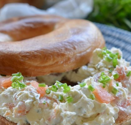 Smoked Salmon and Chive Bagels