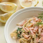 Smoked Salmon and Dill Fettuccine