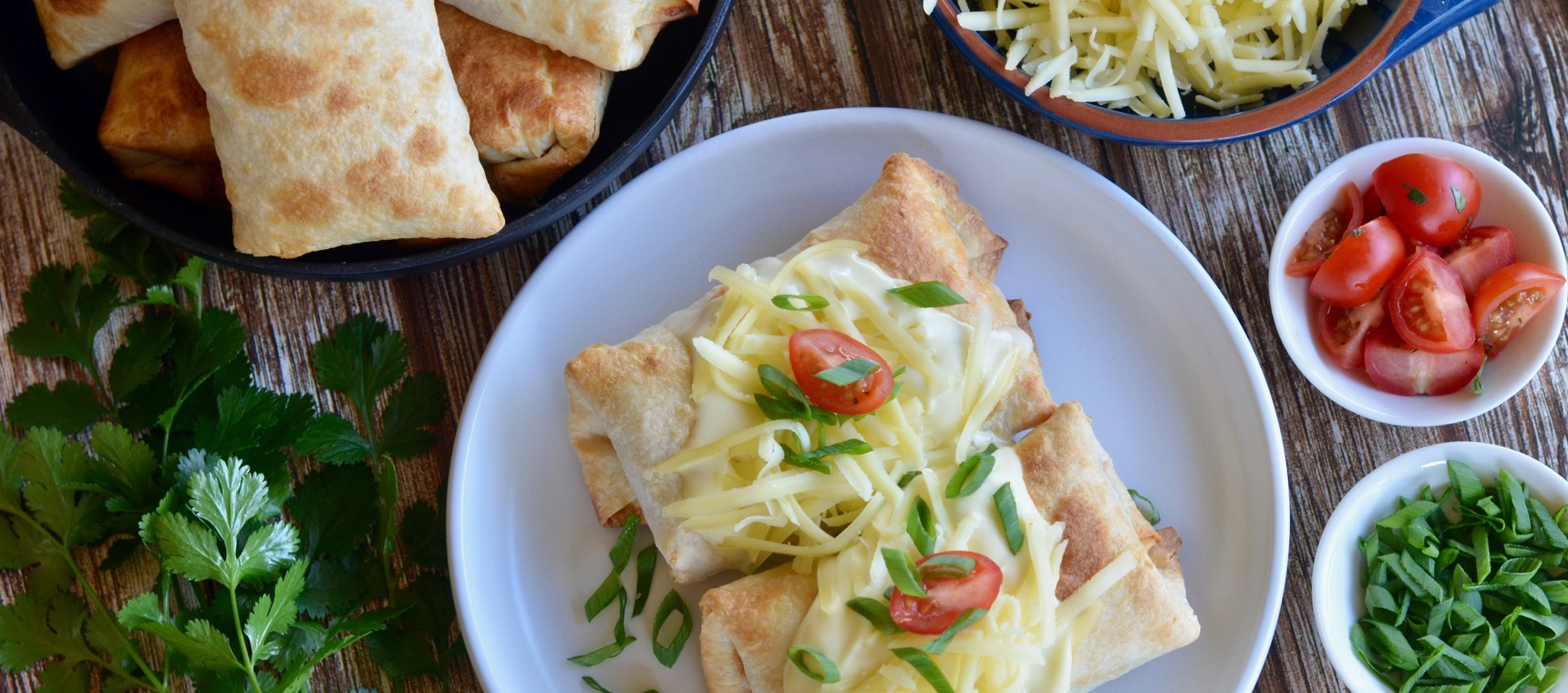 Spicy Chicken Chimichangas