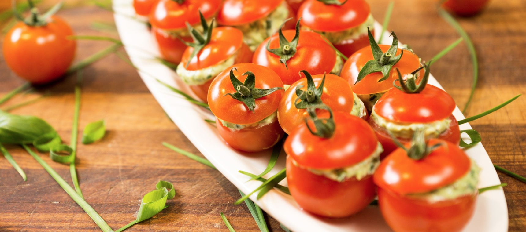 Spinach and Feta Stuffed Tomatoes