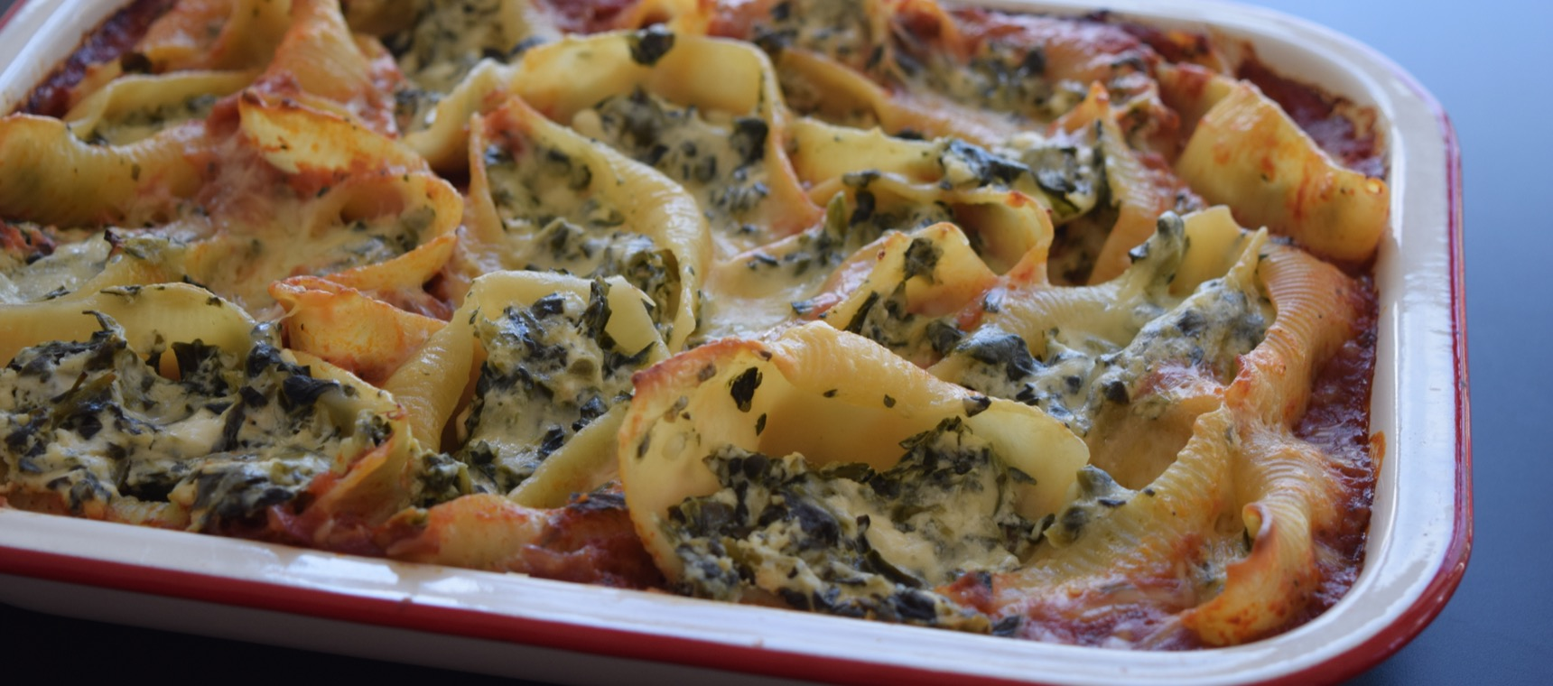 Spinach and Ricotta Pasta Shell Bake