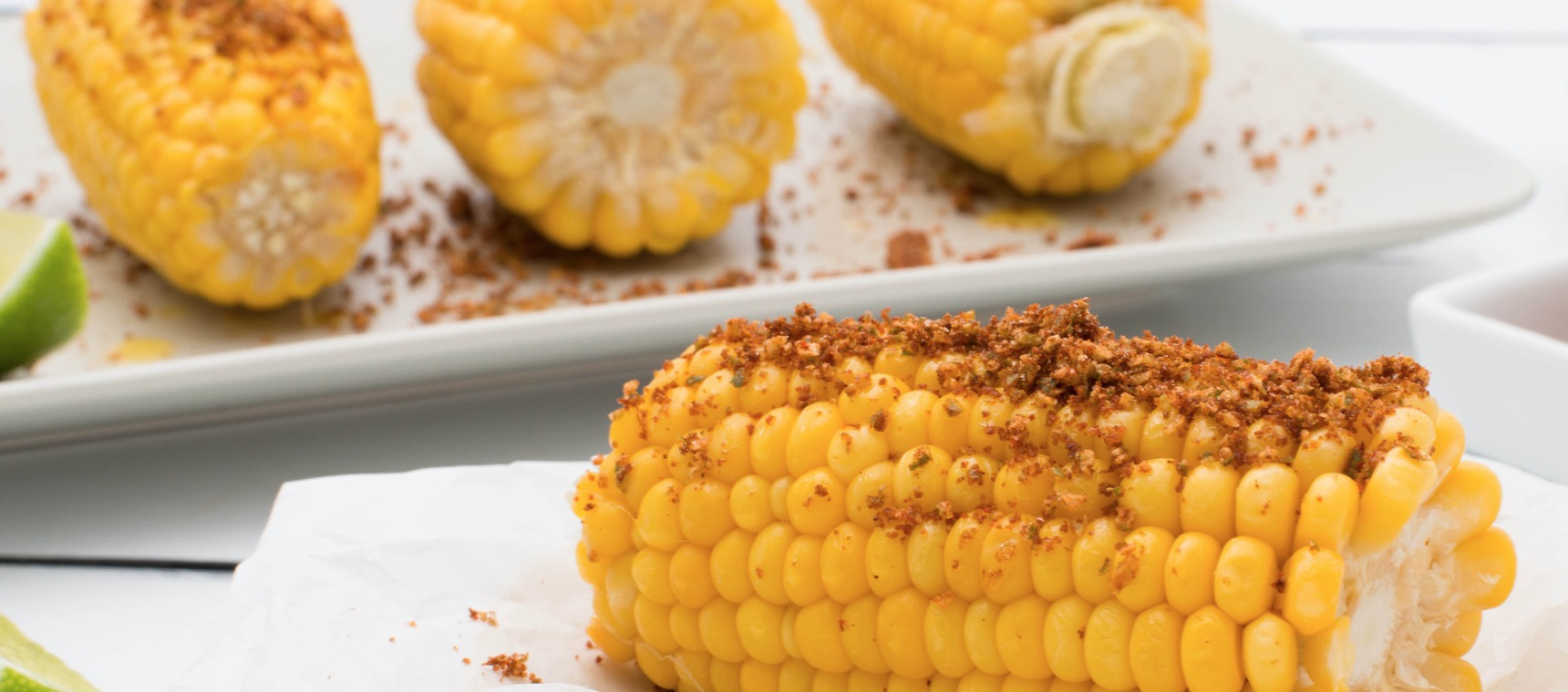 Steamed Corn with Spicy Lime Salt