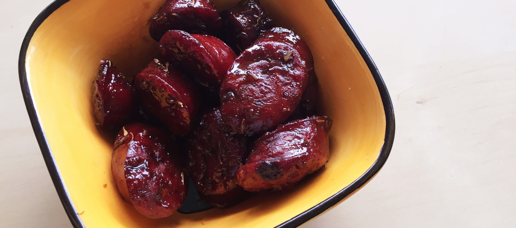 Sticky Red Wine Chorizo