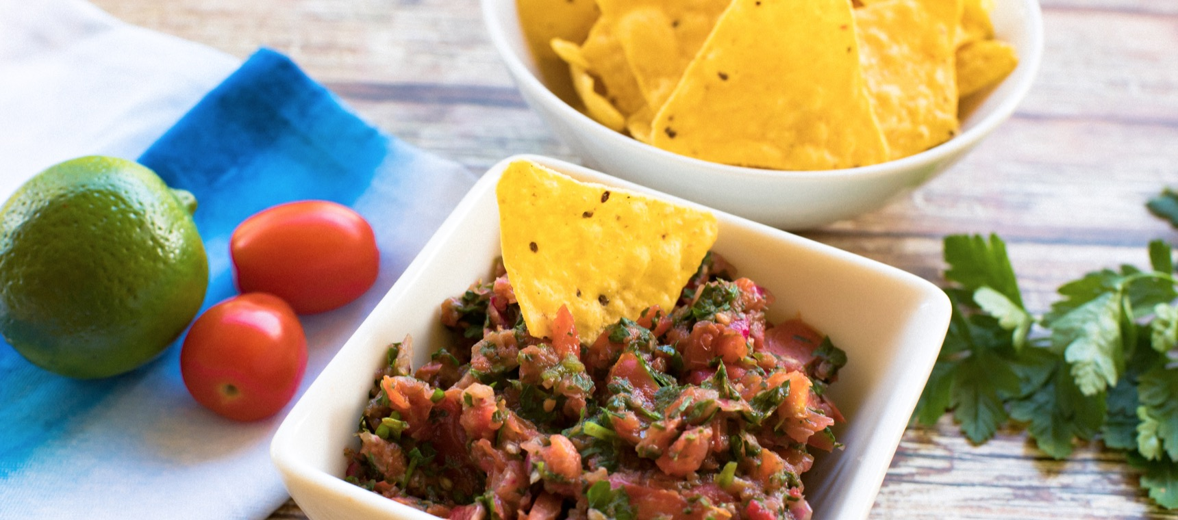 Summer Salsa and Corn Chips