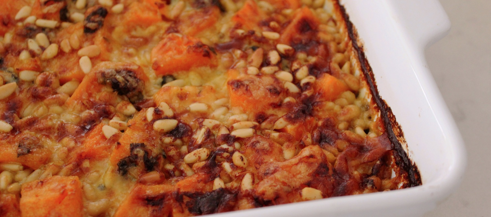 Sweet Potato, Spinach & Pine Nut Bake