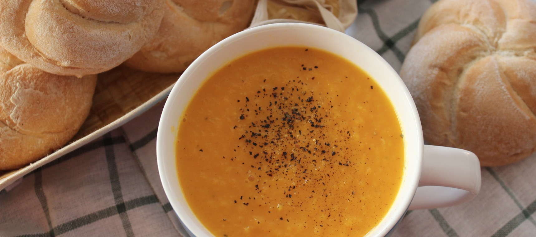Sweet Potato and Cracked Pepper Soup