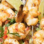 Sweet and Spicy Prawn Skewers
