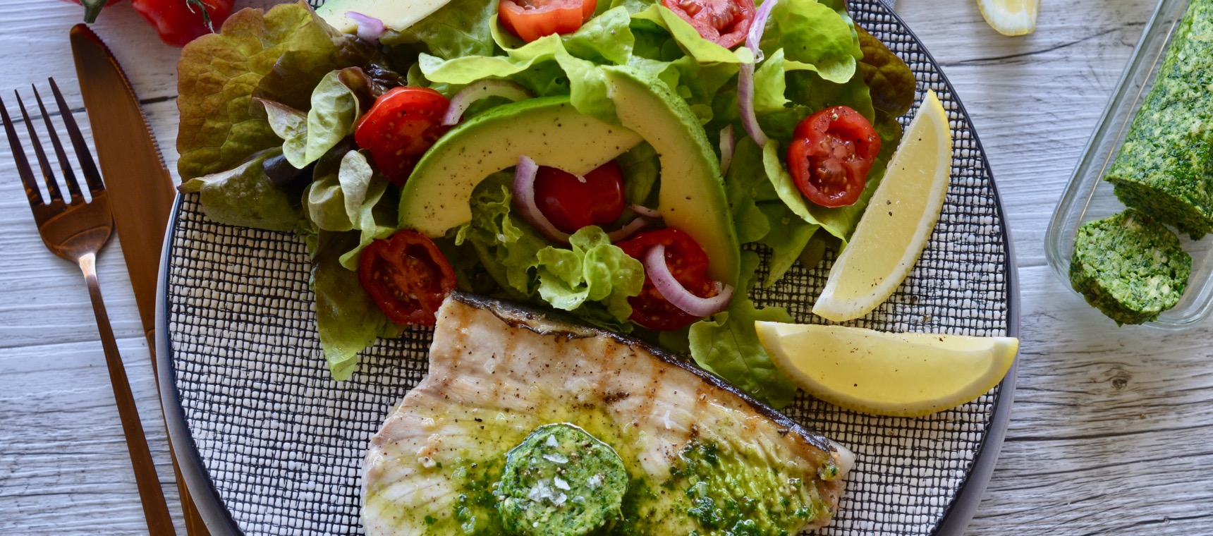 Swordfish with Garlic and Herb Butter