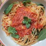 Tomato, Spinach and Bacon Spaghetti
