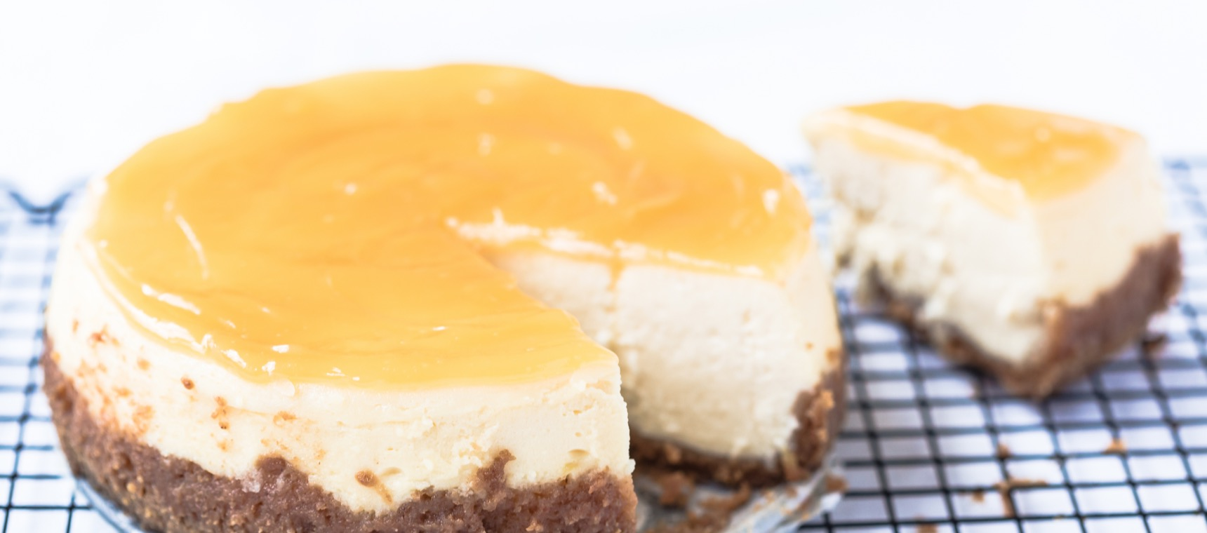 Vanilla Cheesecake with Lemon Curd Topping