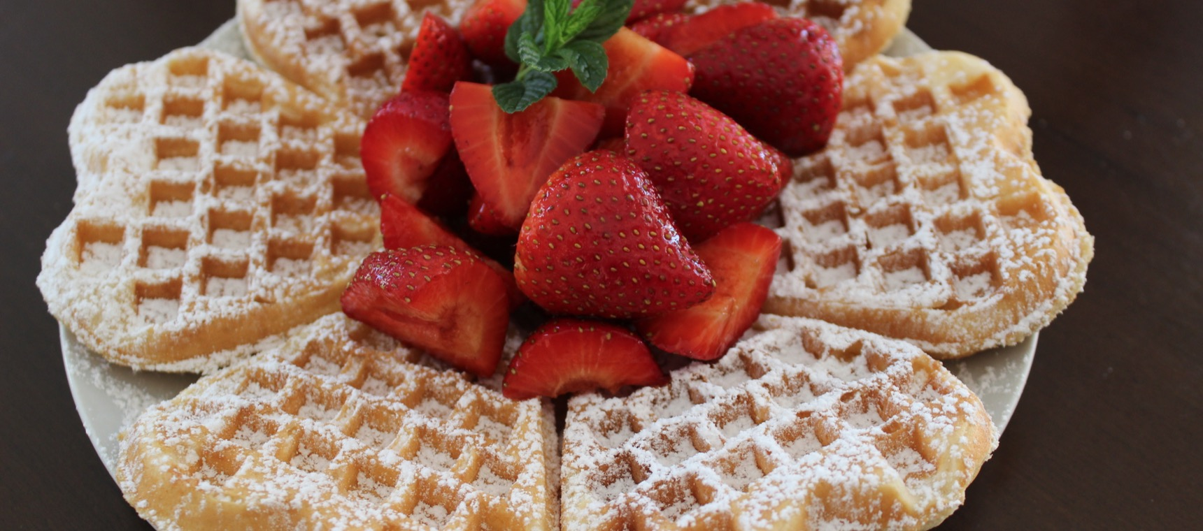 Waffles with Balsamic Strawberries