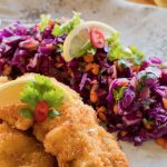 Pork Schnitzel and Red Cabbage Slaw